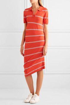 945025df11 Topshop Unique - Margot asymmetric striped stretch-knit dress