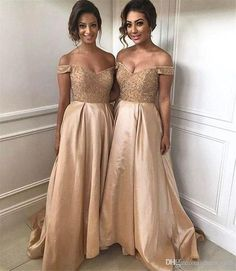 Buy wholesale bridesmaid dresses with lace,bridesmaids dresses cheap along with cadbury purple bridesmaid dresses uk on DHgate.com and the particular good one-2018 gorgeous long gold bridesmaid dresses off shoulder sweep train a line bridesmaid dress custom made simple wedding guest party gowns is recommended by dressesgirl at a discount.
