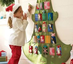 Advent calendar (Make it handmade and alter it to include nativity instead of santa/secular pieces)