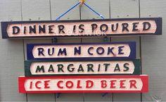 Dinner Is Poured Wood Wine Bar Beer Liquor  Sign #Handcrafted #ArtsCraftsMissionStyle