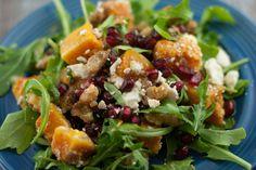 Butternut Squash Pomegranate Salad PineappleandCoconut.com