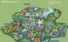 Walt disney world theme parks and resorts map kentucky state parks disney world resort map 2015 gumiabroncs Gallery