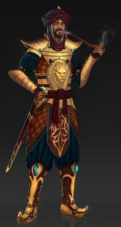 Persian Warrior King by itismeuno