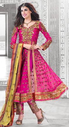 Unique Pink Salwar Kameez