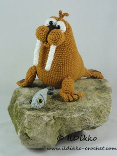 Amigurumi Crochet Pattern - Walter the Walrus
