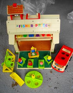 I found one of these gorgeous Fisher Price Schools in a charity shop for just a few pounds, totally fab!  And Lara loves it too :o)