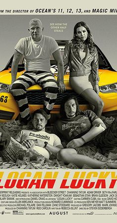 Steven Soderbergh returns to theatrical filmmaking with Logan Lucky, a well-done heist comedy, starring Channing Tatum, Adam Driver, Daniel Craig and Riley Keough. Hindi Movies, New Movies, Movies To Watch, Good Movies, Movies Online, Comedy Movies, 2017 Movies, Movies Free, Free Films