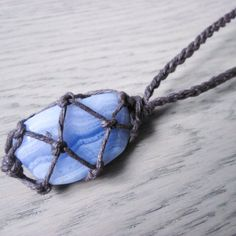 Blue Lace Agate Necklace, Healing Crystal Jewelry, Healing Crystal Necklace, Blue Lace Agate Jewelry, Blue Agate (Diy Necklace Lace)