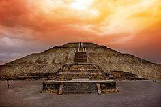 01 Pirámide del Sol, Atardecer en Teotihuacán, Estado de México