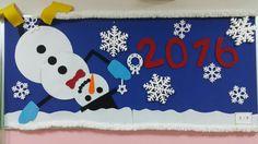 Eca Elginkan İlkokulu 2F sınıfı yeni yıl panosu
