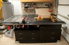Sawstop and Router Cabinet / Infeed Table / Outfeed Table Project - by zzzzdoc @ LumberJocks.com ~ woodworking community