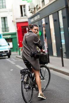 chic wardrobe, camera & bike