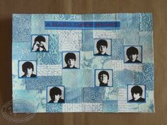 art-journal project, patchwork-like background (layout based on the Beatles' A Hard Day's Night album cover)