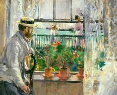 Morisot, Berthe (French, 1841-1895) - Eugène Manet on the Isle of Wight - 1875