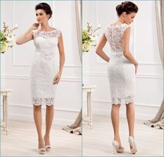 Custom Made Elegant Sheer Scoop Neckline Sleeveless Short Wedding Dresses 2014 Cheap Lace Bridal Gowns Stain Sash _ {categoryName} - AliExpress Mobile Version - Short Lace Wedding Dress, Civil Wedding Dresses, Wedding Dresses For Sale, Cheap Wedding Dress, Bridal Lace, Bridal Dresses, Wedding Gowns, Bridesmaid Dresses, Lace Dresses