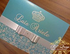 Convite 15 anos Laís Ariele Wedding Cards, Wedding Invitations, Sweet Fifteen, Color Menta, Debut Invitation, Quinceanera, Baby Shower, Party, Beautiful Boys