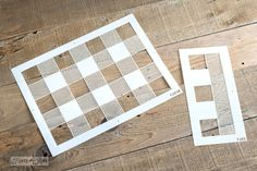 Buffalo Check and Fringe sold separately | Funky Junk's Old Sign Stencils