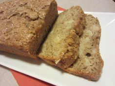 My Kitchen Adventures: Spiced Pear Quick Bread - uses canned pears