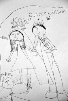 #royalwedding  quirky collective © Children Drawing, Drawing For Kids, Painting For Kids, Art For Kids, Child Art, Conte, Saatchi, Kid Stuff, Fairy Tales