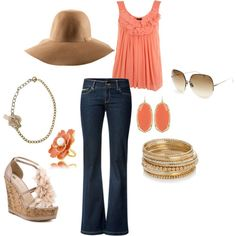 Coral...I'm so in love with the floppy hat, I think it's going to be on my must have list for this summer