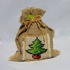 Christmas tree gift bag by Mafana on Etsy