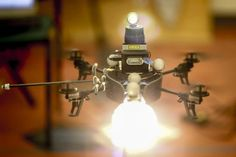 MIT's Aerial Lighting Drone: Researchers at MIT have developed a drone that could be a photographer's new best friend. The robot is designed like a mini helicopter equipped with a light source. The machine can adapt to changes in a subjects posture, so the photographer can achieve the desired effect without having to adjust external light sources.