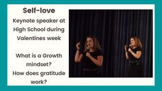 In this short snippet of a keynote delivered on Self-love at a High School earlier this year. We discuss the difference between a Fixed vs a Growth Mindset. Keynote Speakers, Growth Mindset, Self Love, High School, Self Esteem, Grammar School, High Schools, Secondary School, Middle School
