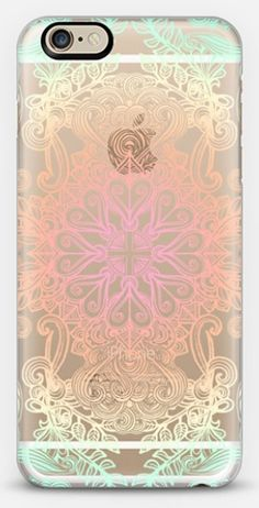 Vintage Fancy - Tropical Pastels on Transparent Classic Snap Case for iPhone 6 - Get $10 off your first purchase of a phone case using this code: 6SP8GR - #casetify #freeshipping #micklyn