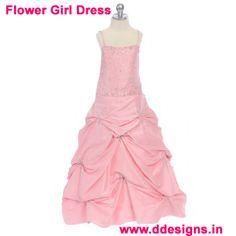 http://ddesigns.in/products/flower-girl-s-dresses.html  #Flower Dresses in #delhi
