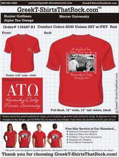 Alpha Tau Omega Fraternity Rush T-Shirts #fraternityrush #ato #alphatauomega