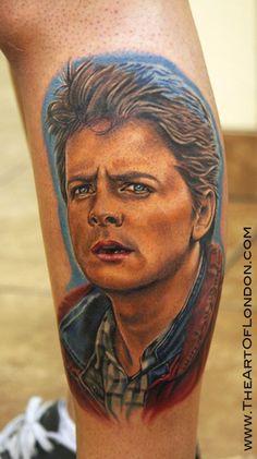 Back To The Future Michael Fox Nerdy Tattoos Bad Tattoos Great