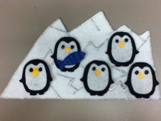 Baby penguins flannelboard for my black-and-white theme Flannel Board Stories, Felt Board Stories, Felt Stories, Flannel Boards, Penguins And Polar Bears, Baby Penguins, Winter Kids, Preschool Winter, Winter Activities