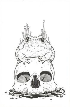 I'm going to try & draw this, toads are my favourite and I love mushrooms ! :3