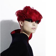 präsentiert von www.my-hair-and-me.de #women #hair #haare #kurzhaarfrisur #red #rot #makeup