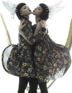 Aya Sato and Bambi, Ayabambi 3d Fashion, Tokyo Fashion, Kawaii Fashion, Editorial Fashion, Aya Sato And Bambi, Editorial Photography, Fashion Photography, Estilo Dark, Portrait Inspiration