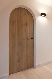 contemporary country pale wooden door - Corvelyn - Products