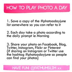 """Photo a day """"rules"""""""