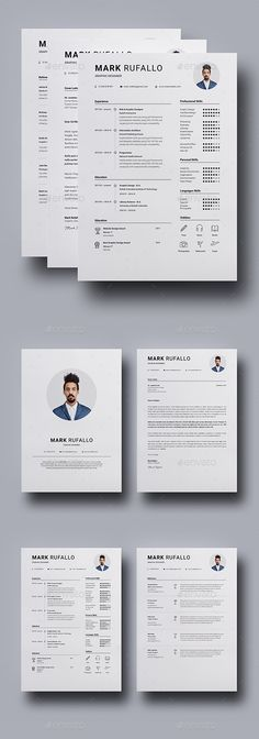 Resume Template CV + Cover Letter by ProGraphicDesign on - graphic design sample resumes