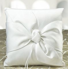 Beverly Clark Tie the Knot Collection Ring Pillow - Bridal Everything Ring Bearer Pillows, Ring Pillows, Draps Design, Diy Cushion, Ring Pillow Wedding, Paper Crafts Origami, Outdoor Wedding Decorations, Pillow Cover Design, Flower Girl Basket