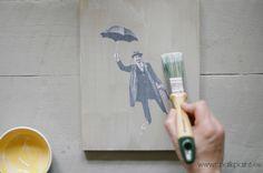Decoupage sobre Autentico Chalk Paint · www.chalkpaint.es ·