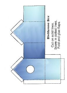 Birdhouse Box Template- leave the hole off and it could be used for a milk carton as well.