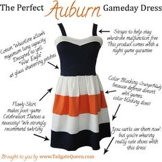 Perfect Auburn Game Day Dress - www.TailgateQueen.com