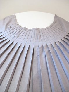 Vintage Pleated Wrap Skirt by NotYourStyle on Etsy, $35.00