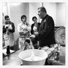 Chef Aldo explaining how to prepare perfecte home made pasta