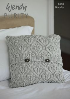 Floral Pattern Pillow Cover Knitting Pattern