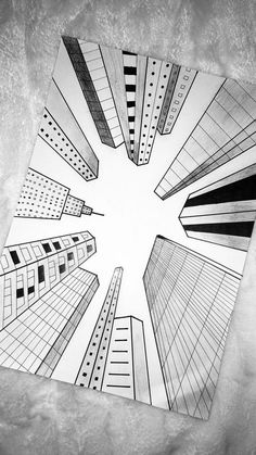 Art Drawings Sketches Simple, Pencil Art Drawings, Easy Drawings, Architecture Drawing Sketchbooks, Perspective Art, Perspective Pictures, Perspective Drawing Lessons, Doodle Art Designs, Doodle Art Drawing