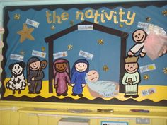 The Nativity Display, classroom display, class display, Religion, Christmas,festival,stable, church, bible, Early Years (EYFS), KS1 & KS2 Primary Resources
