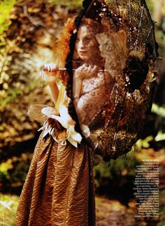 Karen Elson and her whimsical spreads for Vogue US have a long history so it comes as no surprise that the American publication would enlist Bruce Weber fo