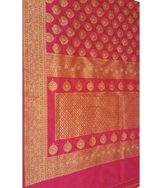 "Pink Handloom Pure Katan Silk Patola Saree-----------Benarasi sarees are known for their grandeur and sheer opulence. The trademark banarasi saree is the one that is made of golden/silver zari border and ""booti"" or small motifs that cover the entire saree. The pallu of Banarasi sarees are their highlight.------Sarees from luxurionworld.com"