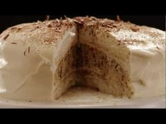 Get the recipe @ http://allrecipes.com/recipe/tiramisu-layer-cake/detail.aspx    Watch how to make a rich, coffee-flavored layer cake. This tiramisu cake is impressive but also surprisingly simple to make. It's fancy without being fussy, so it's a great dessert for both special occasions and simple get togethers. Starting with a box cake mix is th...